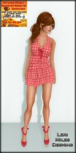 LMD Ad Display Jayla Dress Starfish Hunt