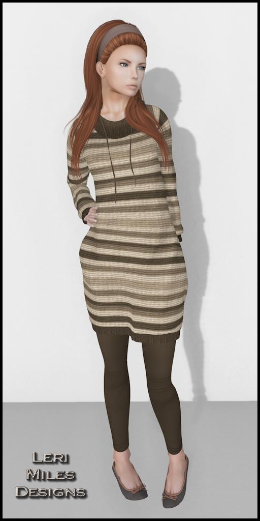 LMD Ad Display Willa Sweater-Leggings Brown
