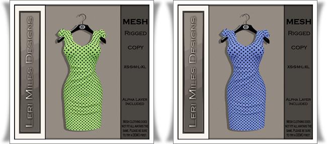 LMD Ad MP Aileen Dress Lime-Sky
