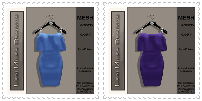 LMD Ad MP Deborah Dress Sky-Violet