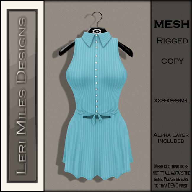 LMD Ad MP Mallory Dress Aqua-3