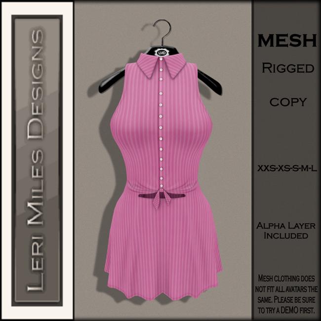 LMD Ad MP Mallory Dress Bubblegum-4