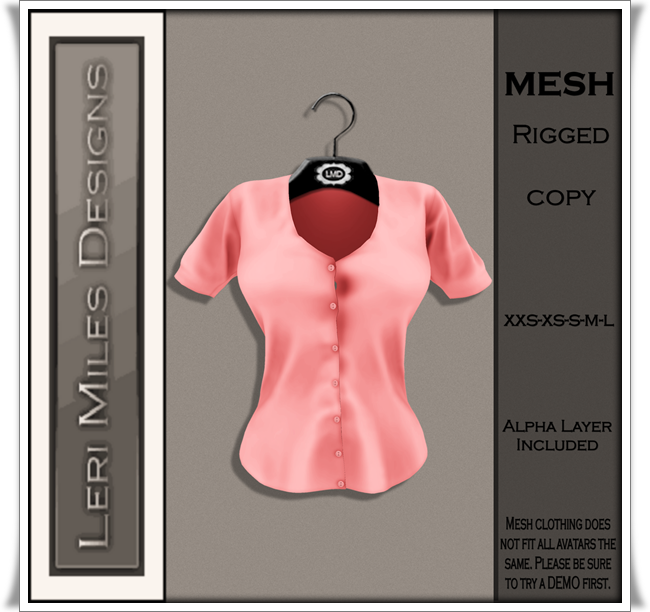 LMD Ad MP Reyna Blouse Coral