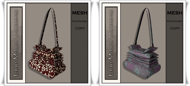 LMD Ad MP Scrunchy Bag Autumn-Floral