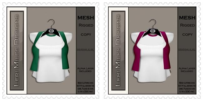 LMD Ad MP Lanna Top Solid Emerald-Fushia