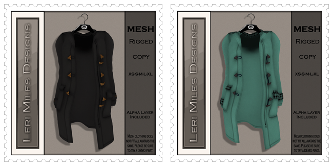 LMD Ad MP Pea Coat MESH Black-Aqua