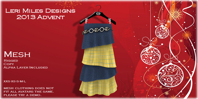 LMD Ad Display Advent 04 Layered Skirt Lemon