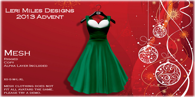 LMD Ad Display Advent 05 Olani Dress Holly
