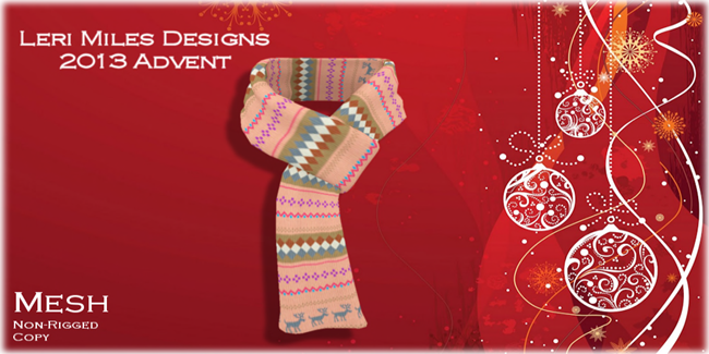 LMD Ad Display Ruthie Scarf Advent 02