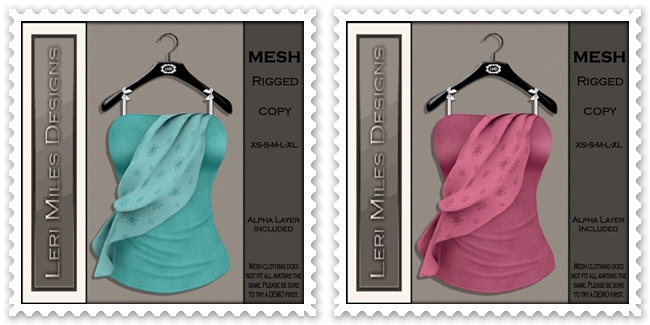 LMD Ad MP Zeela Blouse II Aqua-Blush