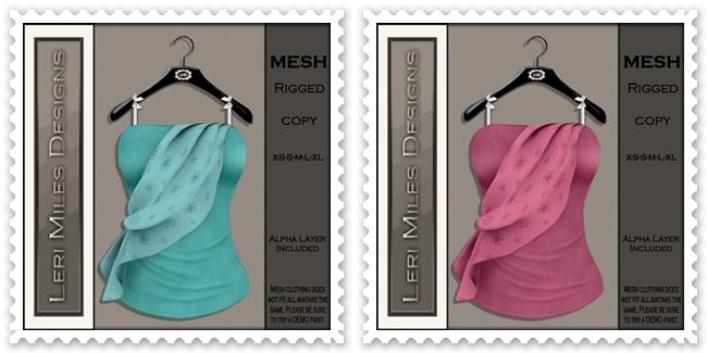 LMD Ad MP Zeela Blouse II Aqua-Blush