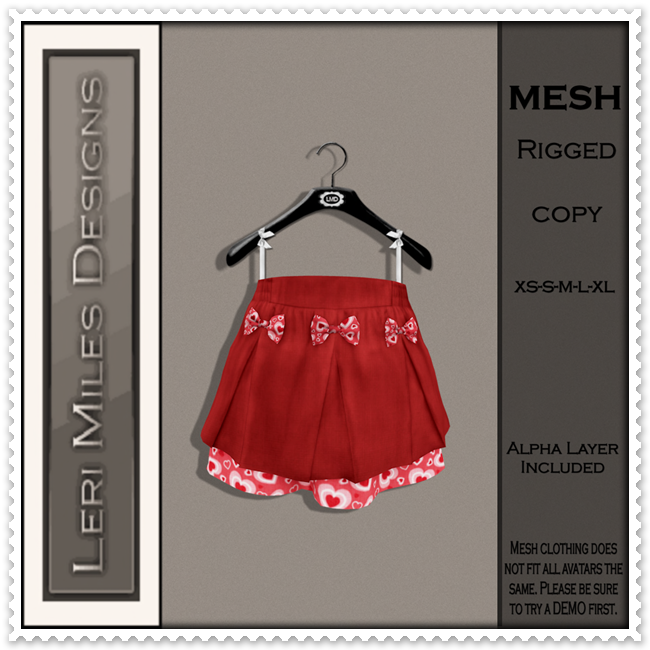 LMD Ad MP Ilona Skirt Red