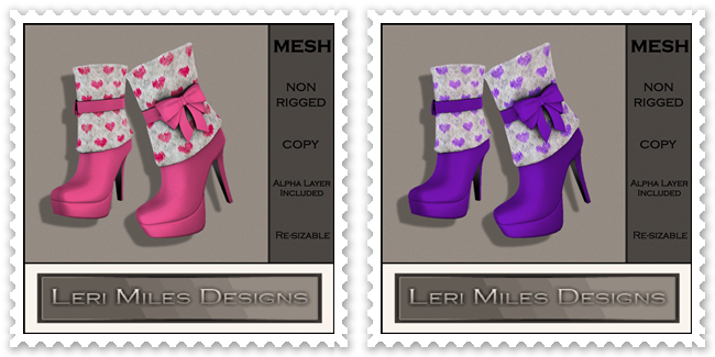 LMD Ad MP Lila Boots Pink-Purple