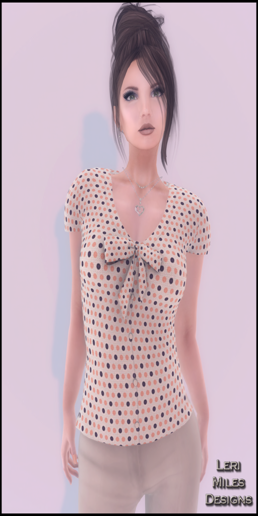 LMD Ad Display Lydia Peach Polka