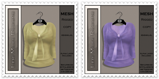 LMD Ad MP Dru Blouse II Lemon-Lilac