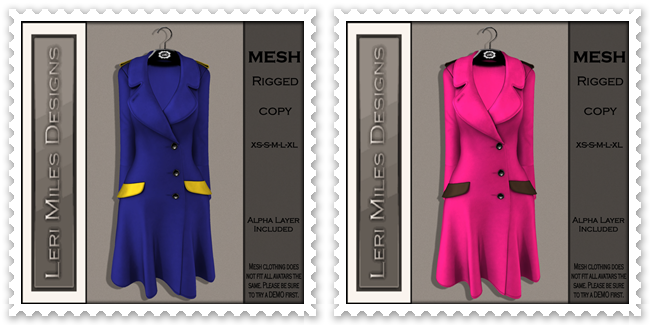 LMD Ad MP Reid Coat Blueberry-Lemon& Bubblegum-Chocolate