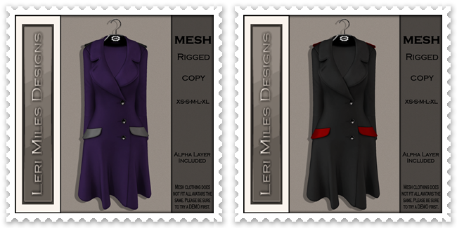 LMD Ad MP Reid Coat Eggplant-Silver&Midnight and Scarlet