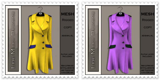 LMD Ad MP Reid Coat Lemon-Blueberry&Lilac-Hunter