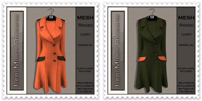 LMD Ad MP Reid Coat Pumpkin-Sage&Sage-Pumpkin