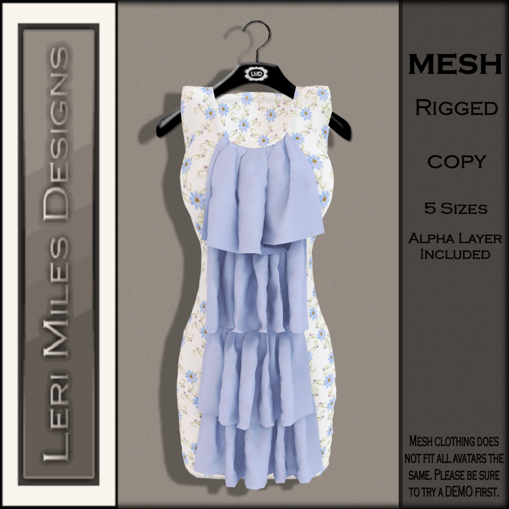 LMD Ad MP Marlene Dress Sky
