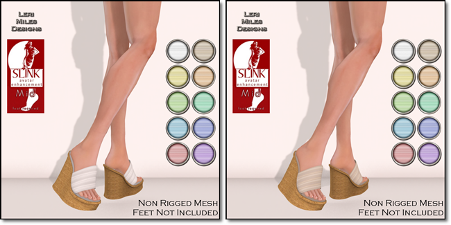 LMD Ad Display Beach Wedges Cotton - Latte
