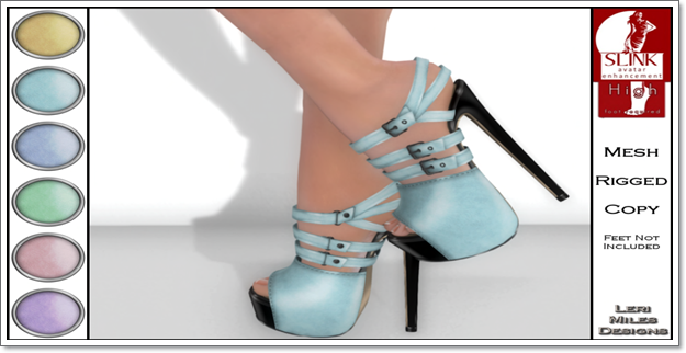 LMD Ad Display Beth Slink High Heels Aqua