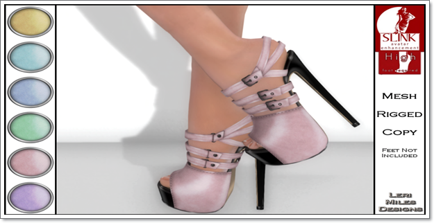 LMD Ad Display Beth Slink High Heels Blush