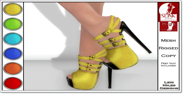 LMD Ad Display Beth Slink High Heels Lemon