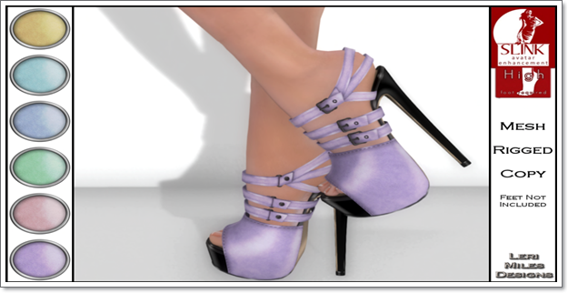 LMD Ad Display Beth Slink High Heels Lilac