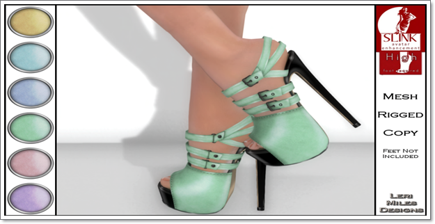 LMD Ad Display Beth Slink High Heels Mint