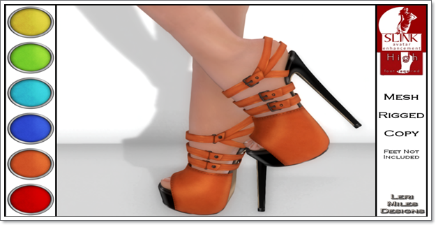 LMD Ad Display Beth Slink High Heels Tangerine
