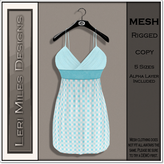 LMD Ad MP Mitsi Dress Aqua