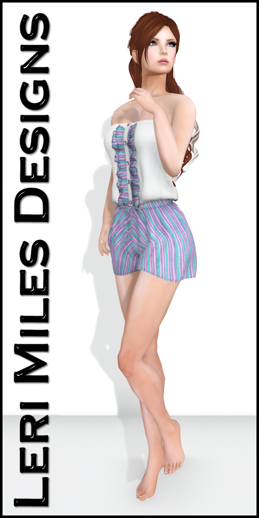 LMD Ad Display Julia Romper Cotton Candy