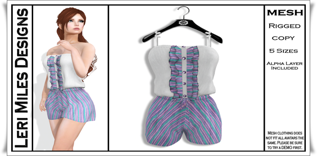 LMD Ad MP Julia Romper Cotton Candy