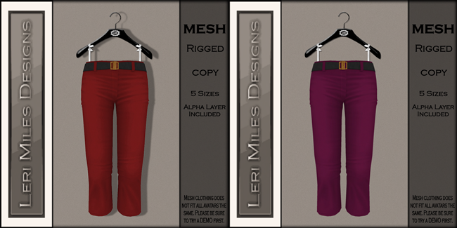 LMD Ad MP My Capris Cherry-Cranberry