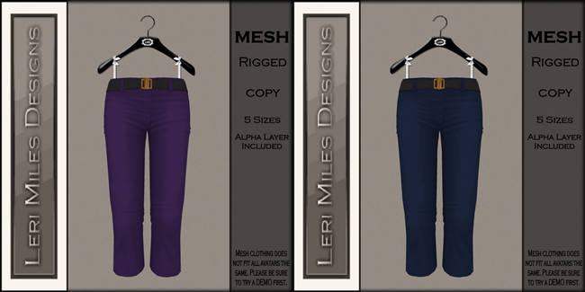 LMD Ad MP My Capris Eggplant-Navy