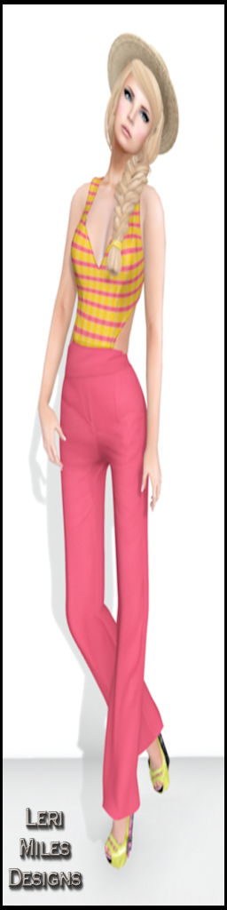 LMD Ad Display Nancoix Pantsuit Pink Lemonade