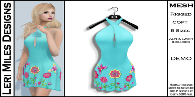 LMD Ad MP Lexy Dress Aqua