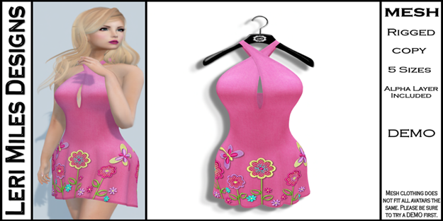 LMD Ad MP Lexy Dress Bubblegum