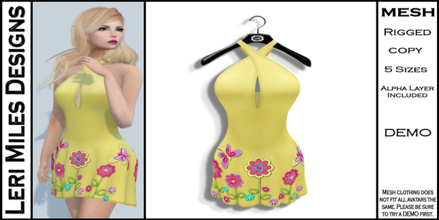 LMD Ad MP Lexy Dress Lemon