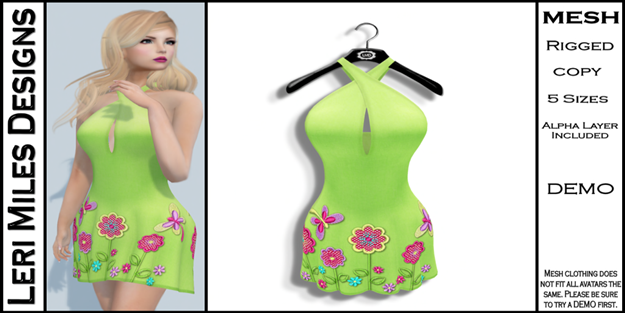 LMD Ad MP Lexy Dress Lime