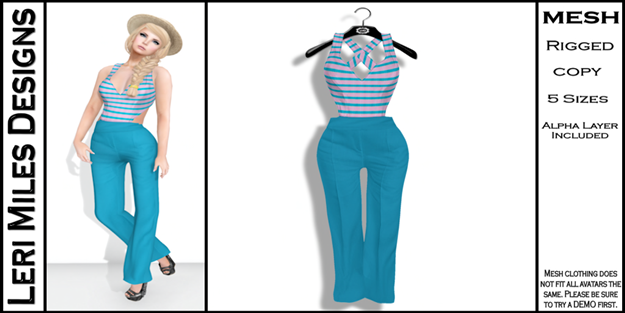 LMD Ad MP Nancoix Pantsuit Cotton Candy
