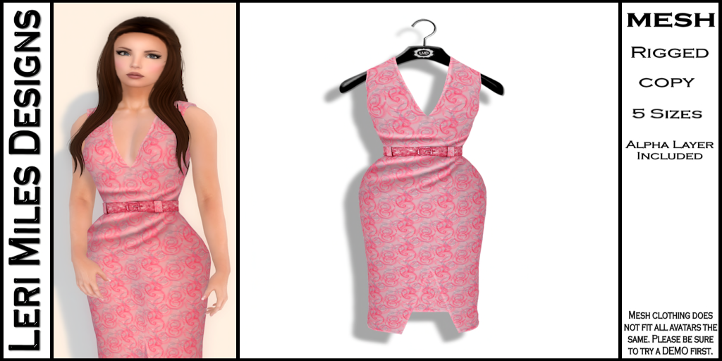 Kina Dress Bubblegum