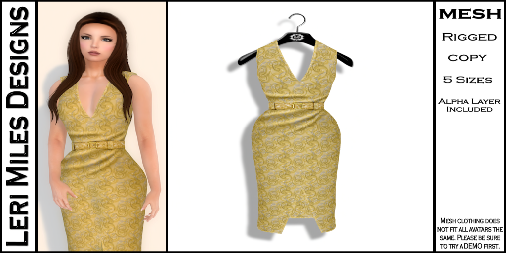 Kina Dress Gold