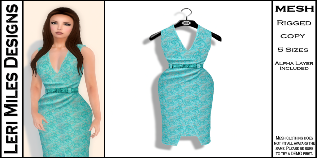 Kina Dress Turquoise