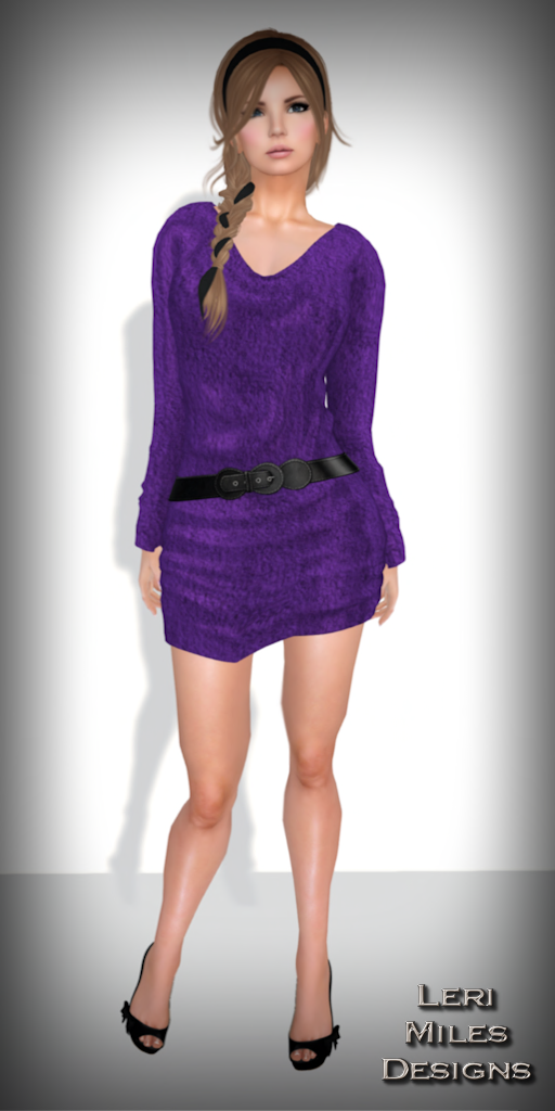 LMD Ad Display Chenille Dress Purple