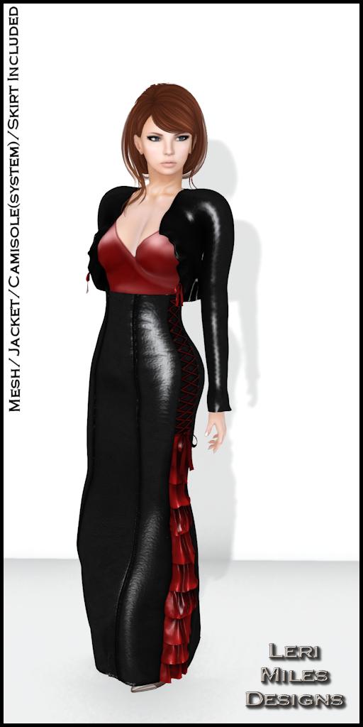 LMD Ad Display Sasy Jacket and Skirt Midnight