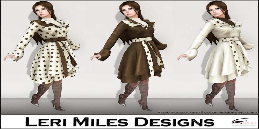 LMD Ad Display Davinia Coat Chocolate