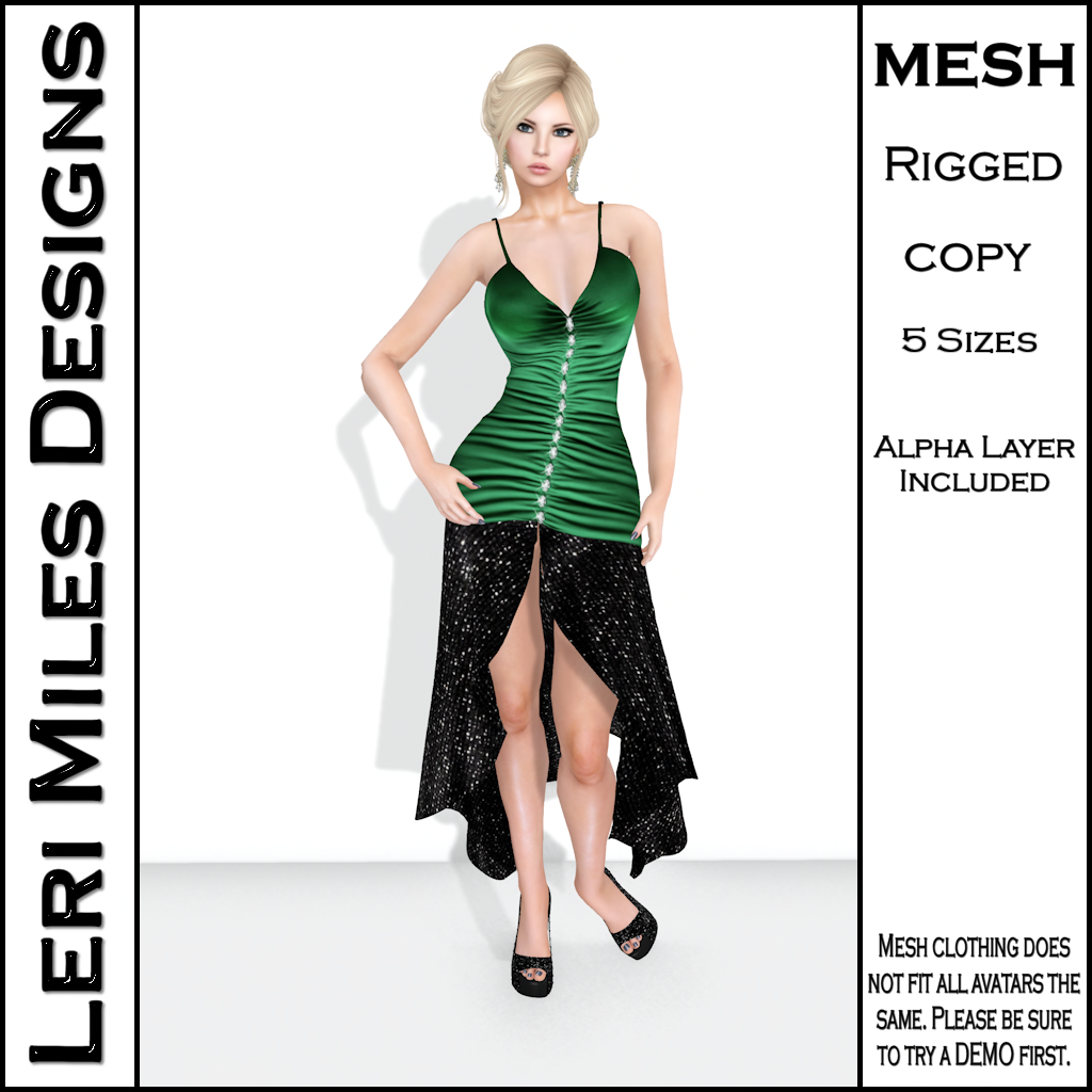 LMD Ad MP Aleva Cocktail Dress Emerald