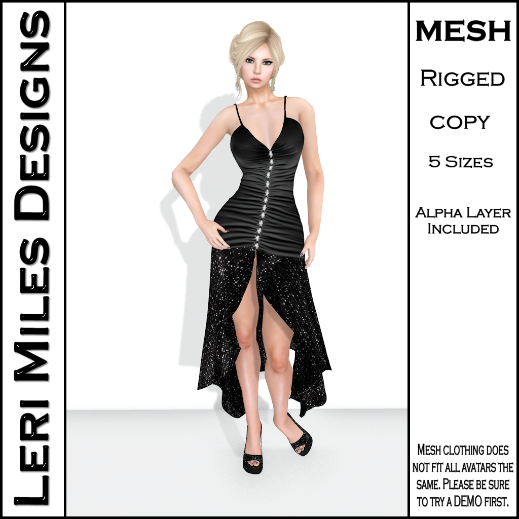 LMD Ad MP Aleva Cocktail Dress Midnight